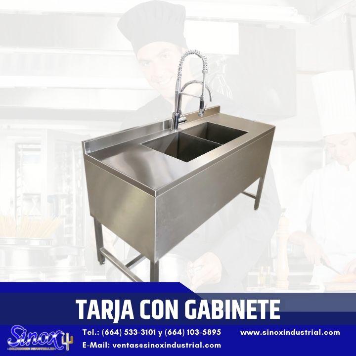 Producto Tarja Con Gabinete En Acero Inoxidable